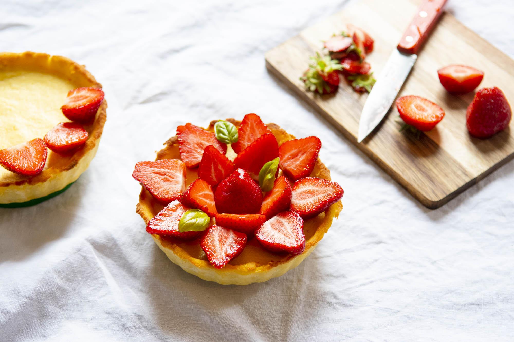 Mes tartes aux fraises céto