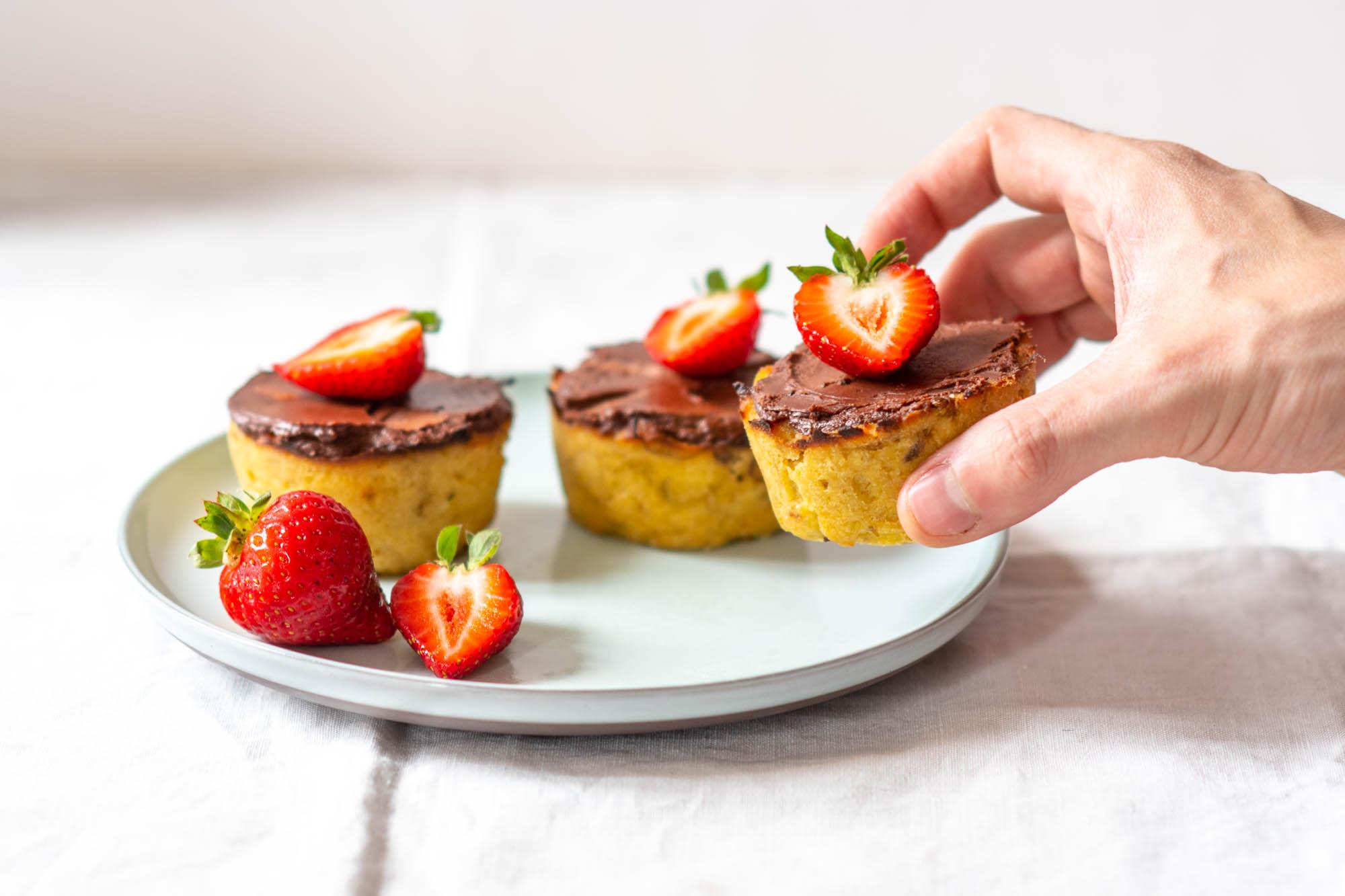 Mes muffins cétogènes rhubarbe chocolat