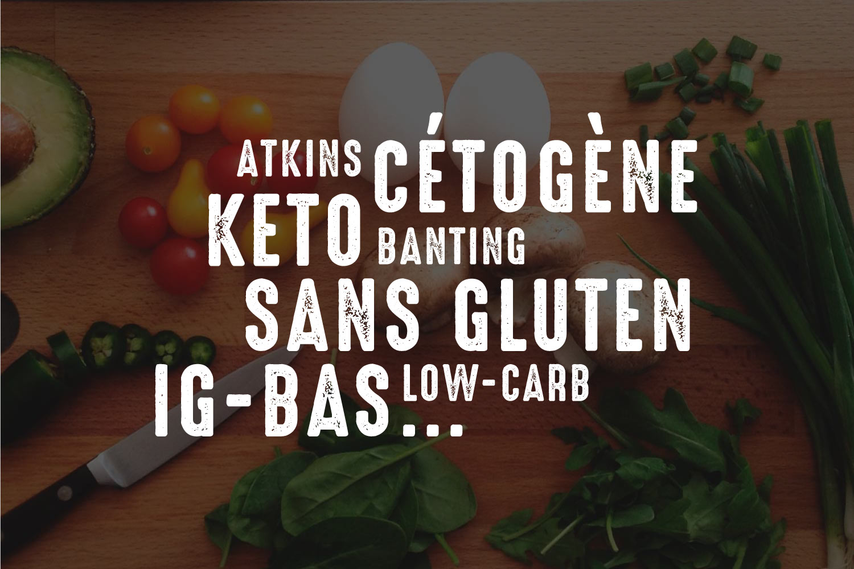 IG bas, Cétogène, Keto, Sans gluten, Low-carb, Atkins, Banting… Quelles différences ?